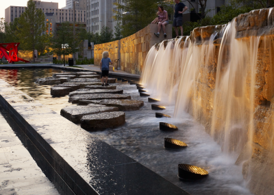 The design of Citygarden drew inspiration from the cultural, historical and environmental histories of St. Louis.