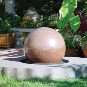 floating granite ball fountain