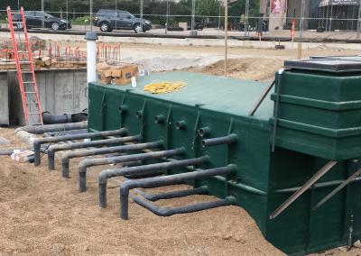 underground vaults hide fountain mechanical equipment underground
